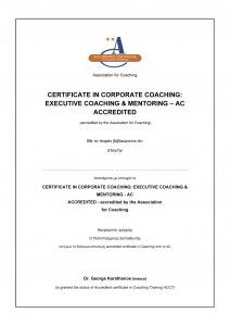Certificate in Corporate Coaching: Executive Coaching and Mentoring - AC Accredited